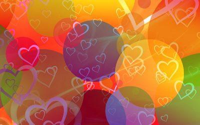 vários corações desenhados