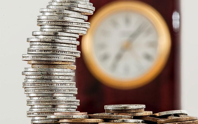 moedas empilhadas
