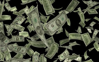 dolares voando
